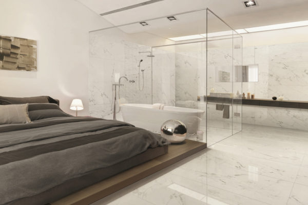 Gres porcellanato effetto marmo - SOGEK Ristrutturazioni Roma
